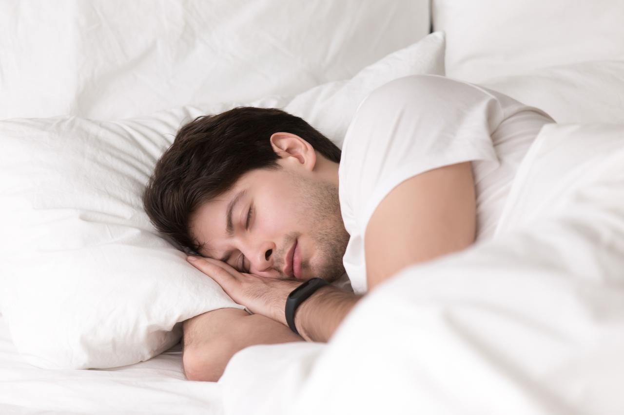 A man peacefully sleeping