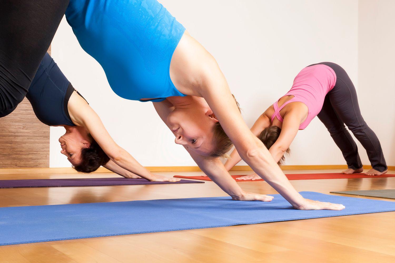 Women doing yoga